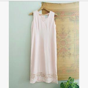 Pale Light Linen Maxi Dress